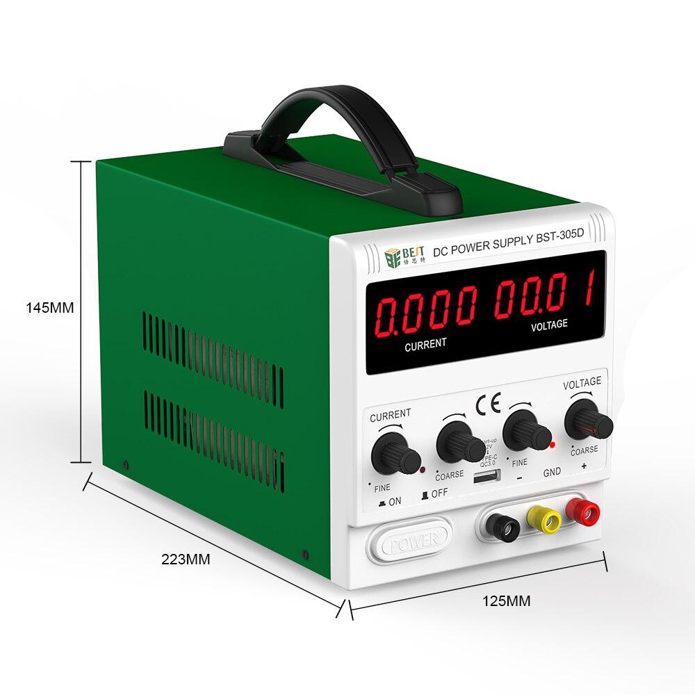 Meilleur 305D nouveau 30V 5A AC DC alimentation à découpage réglable alimentation LED avec Ports USB outils de réparation de téléphone portable - 2
