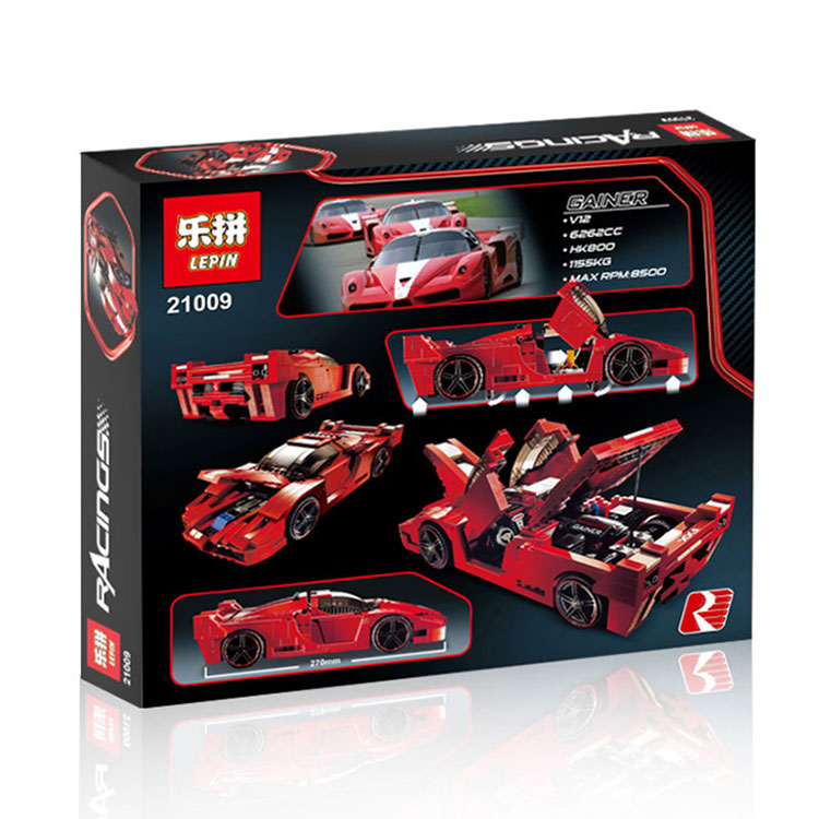 Lepin21009 Genuine Creative Series The Out of Print FXX 1:17 Racing Car F1 Car Set Building Blocks Bricks Toys Boy Brithday Gift high quality 15 6 replacement touch screen for acer aspire v5 571 v5 571p v5 571pgb digitizer without lcd display