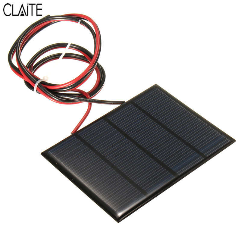 Hot Sale 12V 1.5W 100MAh Polycrystalline silicon Solar Panel PV module Mini Solar Cells Battery Phone charger with Welding Wire