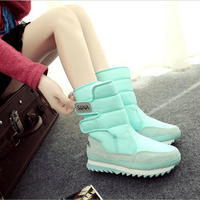 2017 NEW Warm Solid Anti Slip Snow Boots Women Waterproof Female Winter Boots Thermal Shoes Botas