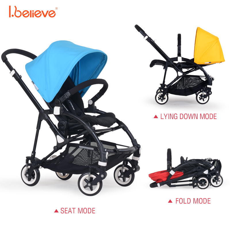 I.believe Baby Stroller I-S018 Natural rubber four-wheel shock absorbers Folding Baby Carriage 0-3 Years Pram SGS certification pinturicchio centenarian four wheel baby stroller baby newborn buggiest shock absorbers dual