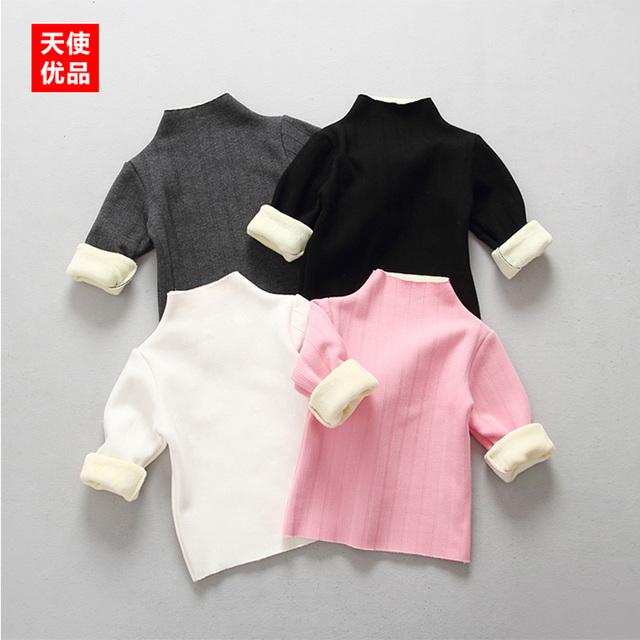 Crianças Outono Inverno Meninos Camisola Camisola Do Natal Traje Furtleneck Crianças Pullover Grossa Camisola Escola Para Meninas Ano Novo