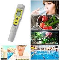 Tester Pocketable Thermometer Temperature Aquarium Digital Display Fish Tank Pen Auto Calibration PH Meter Waterproof