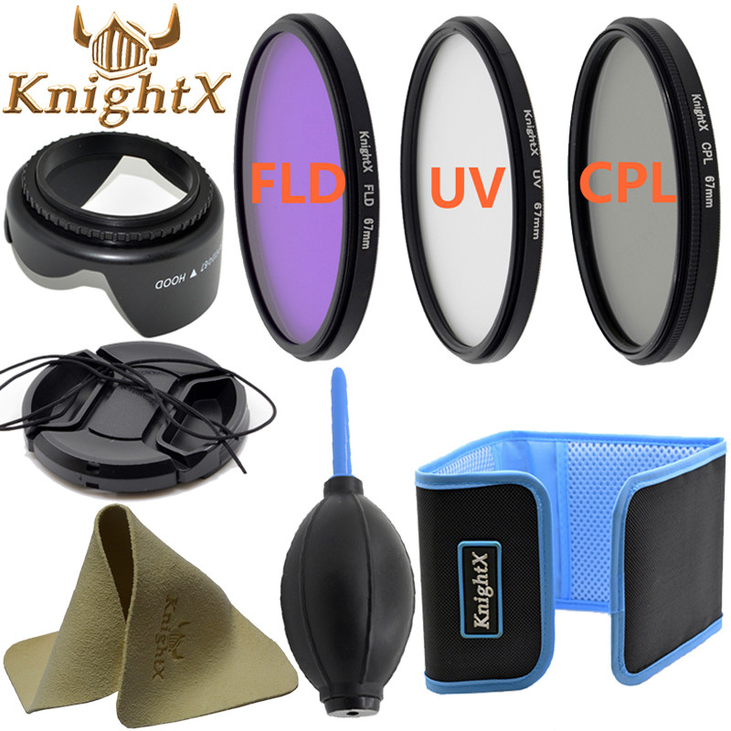 KnightX CPL UV Lentille Filtre 58mm ND Pour nikon Canon t5i T3i T4i 550D 600D 650D 1100D 60D Caméra DSLR D5200 D5300 D3100 D3300 52 MM