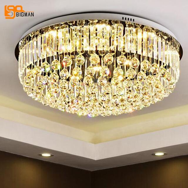 Nuovo lustro LED lampadari di cristallo moderno rotondo plafoniere ...
