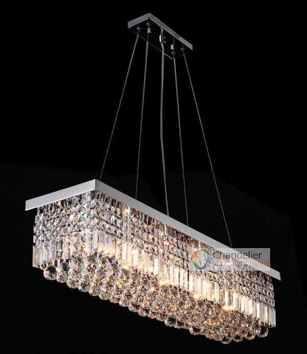Bulbs L X W Cm Rectangle Clear Crystal Chandelier Rain Drop - Chandelier raindrop crystals