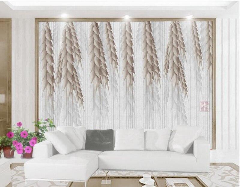 Custom Wallpaper Decorative Wall Decor Modern Minimalistic Golden Wheat Moving Desktop Wallpaper Room Wallpaper TV Room Study