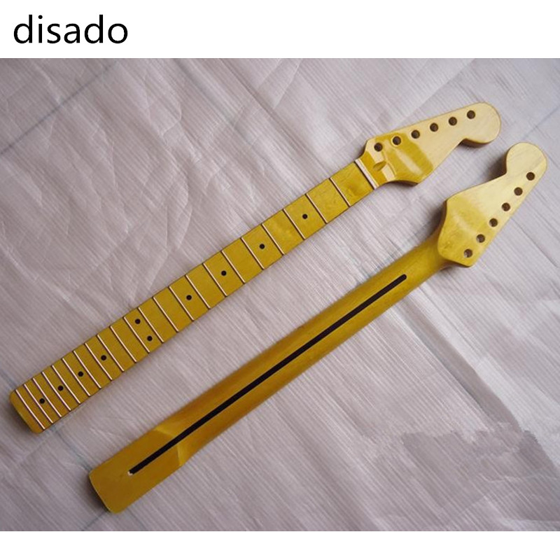 disado 22 Frets glossy paint Electric Guitar Neck maple fingerboard inlay dots Guitar Parts accessories disado 22 frets inlay dots reverse electric guitar neck wholesale guitar parts guitarra musical instruments accessories