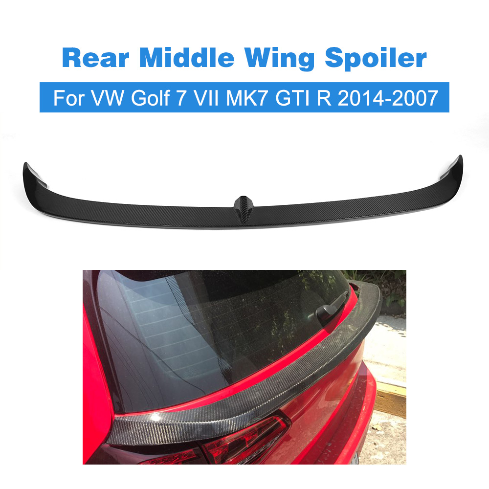 Carbon Fiber FRP Auto Car Rear Middle Wing Spoiler Lip Chin For Volkswagon VW Golf 7 VII MK7 Standard GTI R Rline 2014 - 2007 2007 bmw x5 spoiler