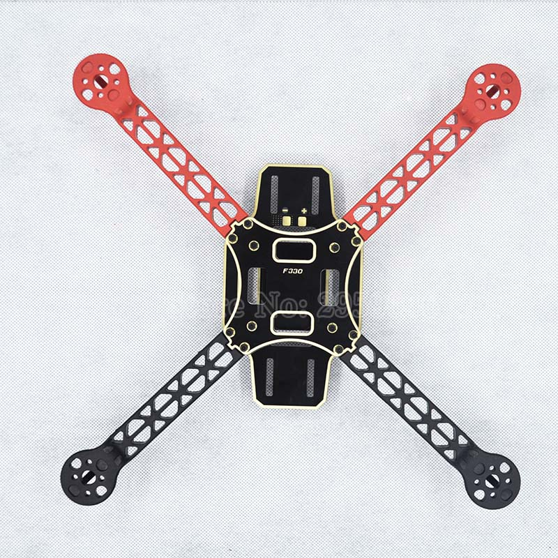 High-strength ultralight White Red Black F330 Quadcopter frame Kit RC FPV F330 Drone Frame Kit PCB chassis Support KK MK MWC UAV fpv x uav talon uav 1720mm fpv plane gray white version flying glider epo modle rc model airplane