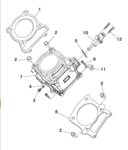Cylinder Head Gasket For Hisun 500atv2013 Part No 12250 004 0000