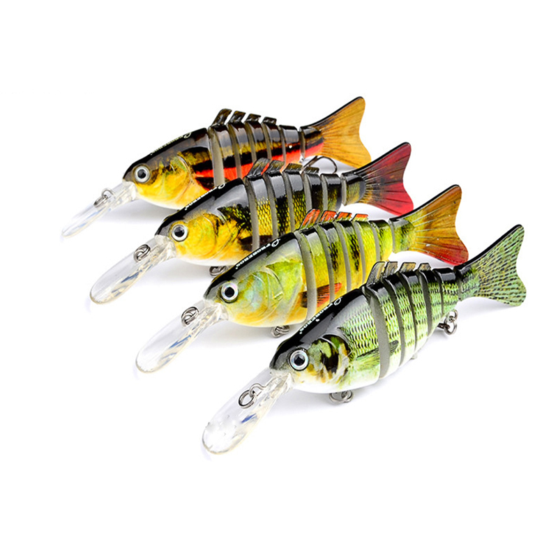 1PC 11.2cm Classic Road Bait Plastic Bionic Bait 14g Road Bait Multi-section Fish bait HS-005