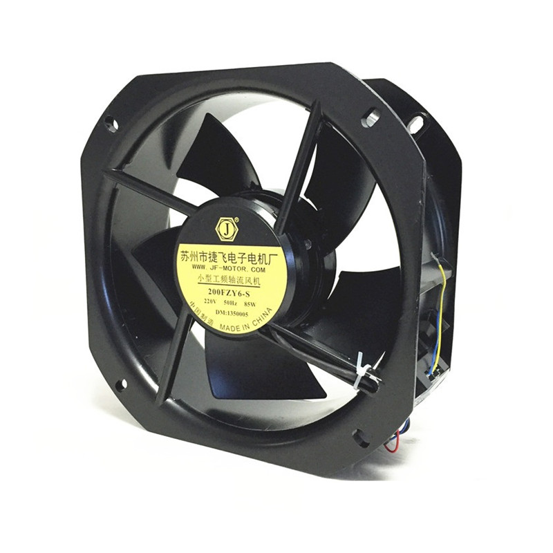 200FZY6-S Small Industrial Frequency Axial Fan Cooling Fan 220V 80W 0.35A Cabinet Cooling High Temperature Resistance small aluminum high temperature cooling fan blade metal vane 70mm diameter 6mm shaft