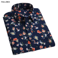 2017 New Short Sleeve Slim Fit Mens Floral Print Shirt Summer Fashion High Quality Casual China