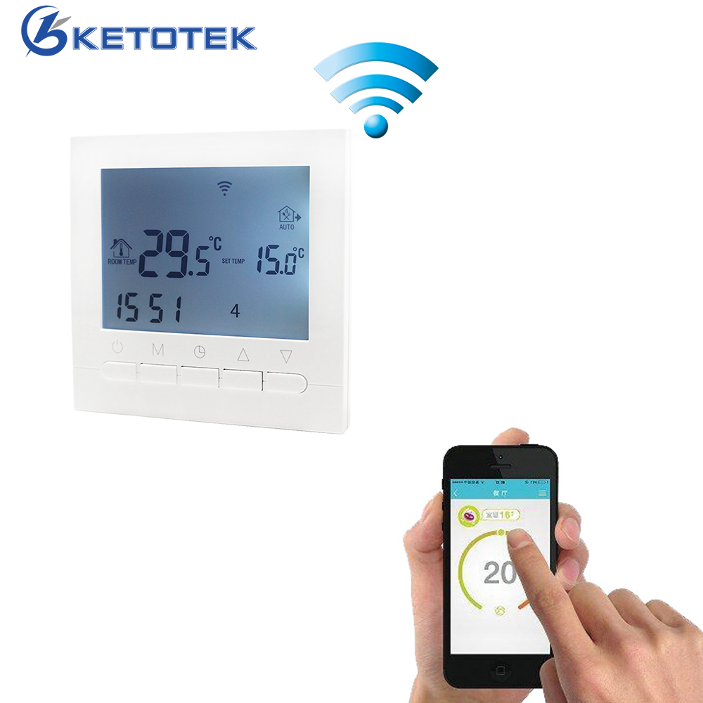купить 16A AC 220V WIFI Gas Boiler Heating Thermostat Water/Electric Heating System WIFI Thermostat APP Controls for Warm Floor по цене 1649.38 рублей