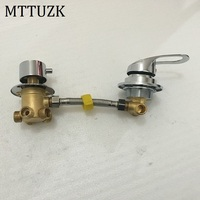 MTTUZK wall mounted 2/3/4/5 Ways water outlet brass shower tap screw or intubation split shower cabin shower room mixing valve