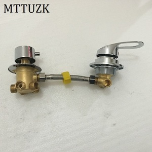 Image 1 - MTTUZK wall mounted 2/3/4/5 Ways water outlet brass shower tap screw or intubation split shower cabin shower room mixing valve
