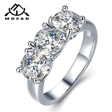 MDEAN White Gold Color Wedding Rings for Women Engagement AAA Zircon Jewelry Femme Bijoux Bague Size 6 7 8 9 10 H005 mdean rose gold color ring purple stone aaa zircon jewelry for women engagement wedding fashion wholesale size 5 6 7 8 9 h083