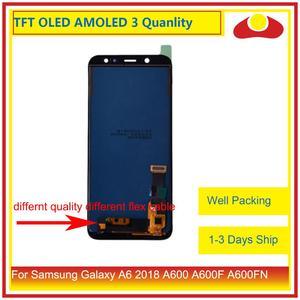 Image 2 - 10 pçs/lote Para Samsung Galaxy A6 2018 A600 A600F A600FN Montagem Do Monitor Do Painel de Display LCD Com Tela de Toque Digitador Completo