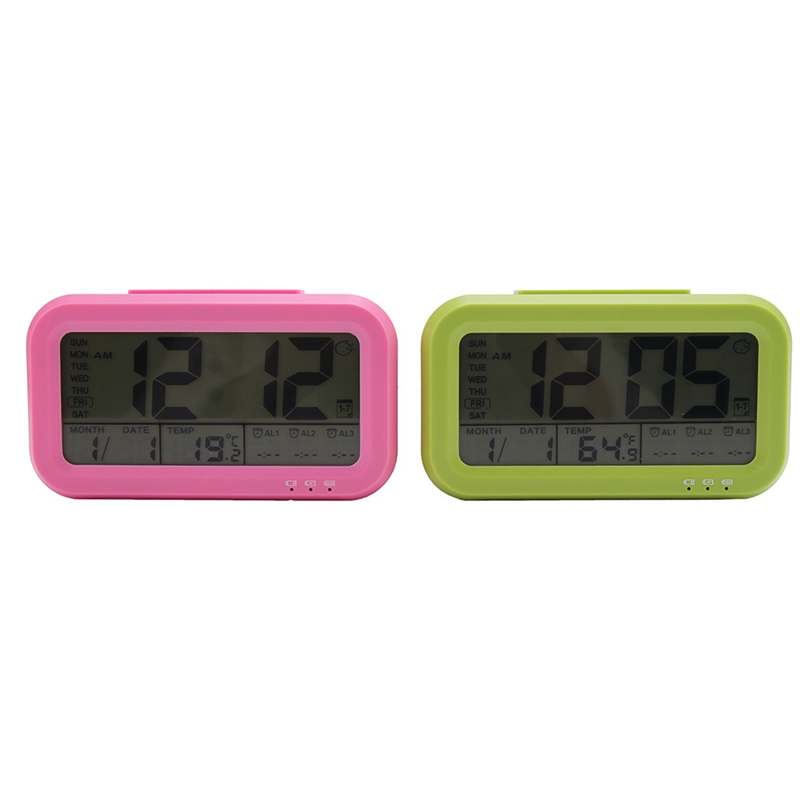 Home & Garden Adroit Digital Led Alarm Clock 12h/24h Alarm And Snooze Function Clock Indoor Thermometer Electronic Desktop Table Clocks Usb