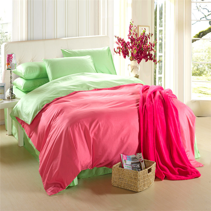 Red Green Bedding Set King Quilt Doona Duvet Cover Bed In A Bag Sheets Double Bedspreads Linen Cotton Bedsheet 4pcs Sets From Home