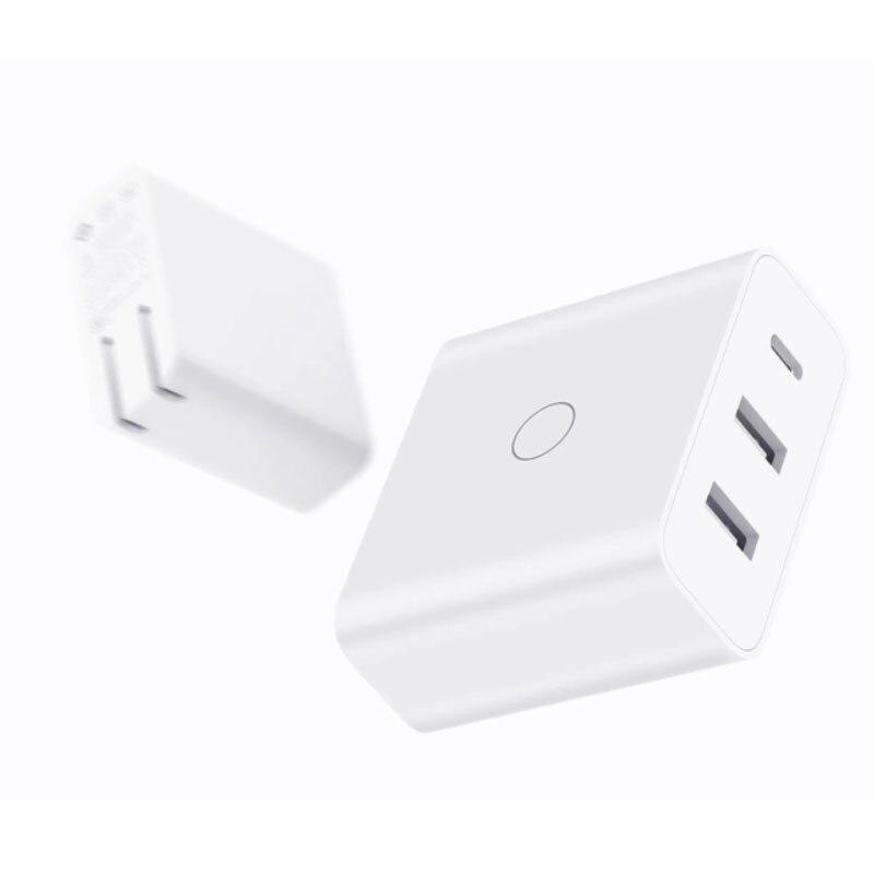 65 W Portable USB chargeur rapide USB chargeur mural téléphone Portable chargeur pour ZMI iPhone X Pad Mookbook Xiaomi ordinateur Portable US EU AU Plug