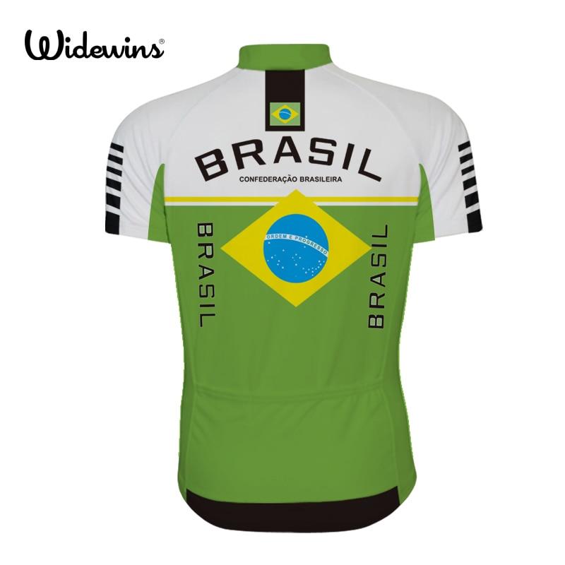 Ropa Cycling Jersey Ciclismo դիզայն BRAZIL- ի հետ logo - Հեծանվավազք - Լուսանկար 2