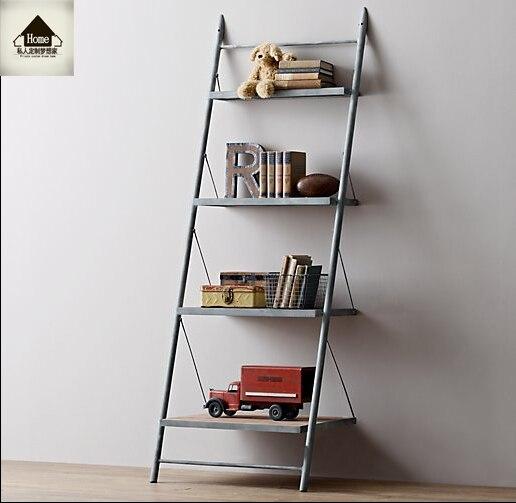 loft de american vintage de madera estantera esquina pared estante de estante estante tv