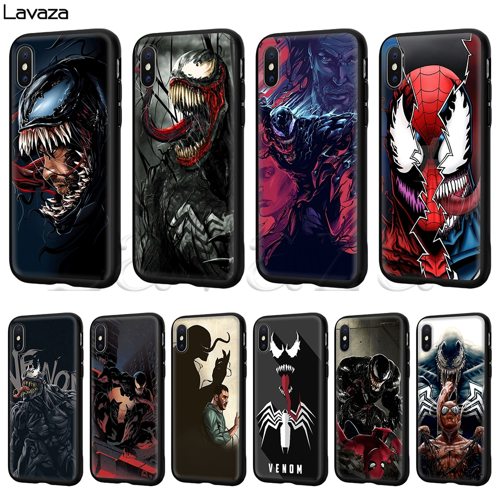 Lavaza Marvel Venom Silicone Soft Case for iPhone XS Max XR X 8 7 6 6S Plus 5 5S SE marvel glass iphone case