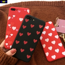Cyato Cute Lover Heart Case For iPhone X Silicone Cartoon Soft TPU Back Cover 6 6S 7 8 Plus Fundas Coque Capas