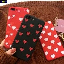 Cyato Cute Lover Heart Case For iPhone X Silicone Cartoon Soft TPU Back Cover 6 6S 7 8 Plus Fundas Coque Capas