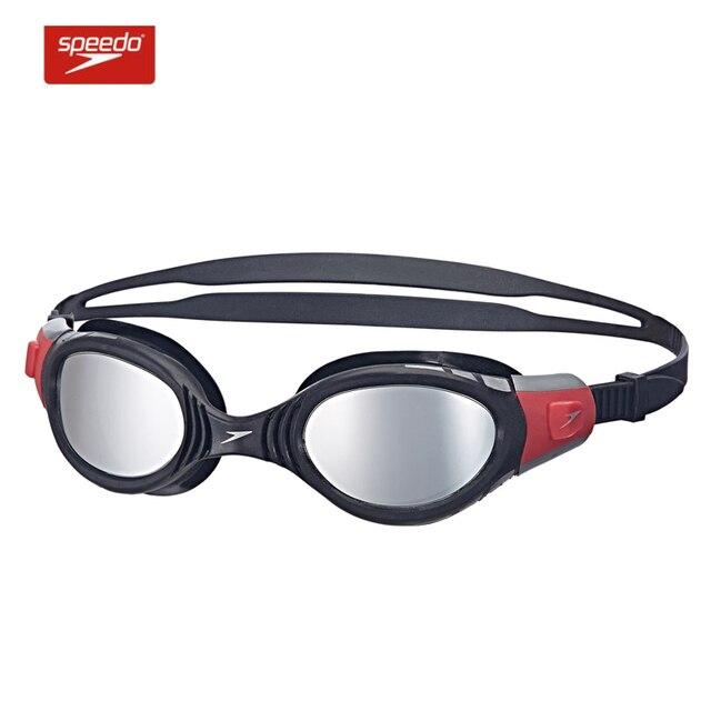 7cceb9d38680 Speedo Swimming Goggles Futura Biofuse Mirror Waterproof Anti Fog Anti UV  Soft Framework Ajustable Swim Glasses