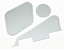 KAISH LP Pickguard Rear Plate Switch Cavity Covers for Epi LP Silver Mirror