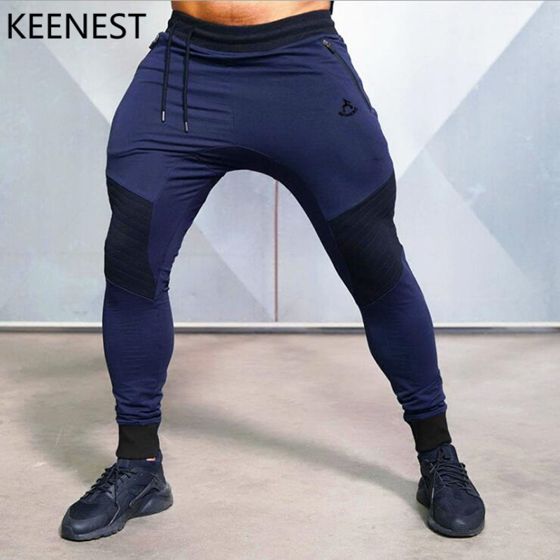 KEENEST 2019 Muscle MEN  Winter Men Sports Running Leisure Pants Men Cotton Soft Fitness Running Sports Training Man(China)