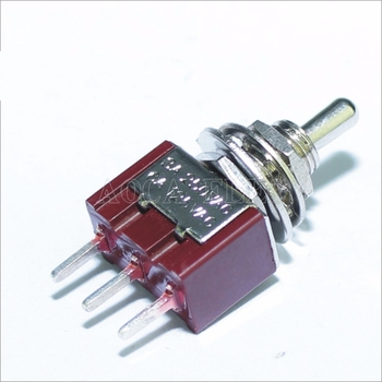 100PCS MTS-102-C2 PCB Toggle Switch 6MM 3A 250VAC 6A 125VAC 3 Pin SPDT on on Red Color With Short Actuator And PCB Terminal 20pcs 3 pin spdt on on toggle switch 6a 125vac