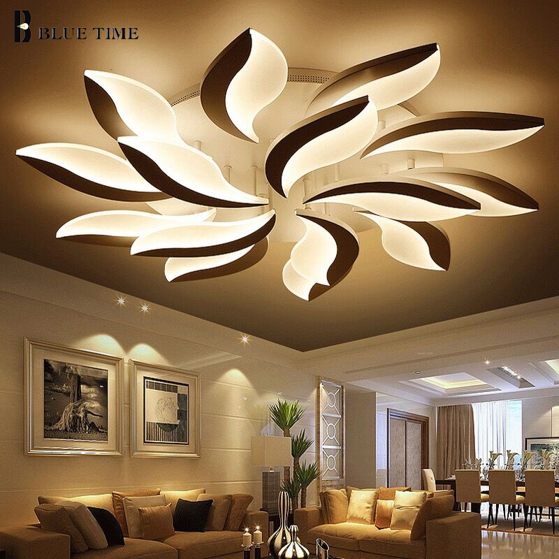 Living room LED Ceiling Light AC110 220V Acrylic Modern Chandelier Ceiling Lamp For Bedroom Study room Kitchen Dining Home Lamp new safurance 15w led infrared pir sensor ceiling mount lamp light ac110 265v for room building automation home security