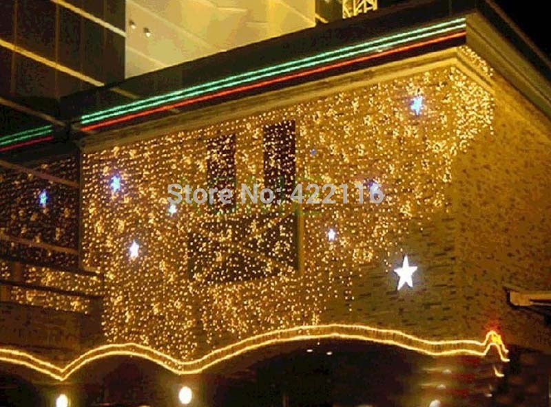 6 X 3.0m 600 SMDs Flush Flash LED Ice Bar Icicle String Waterproof Holiday Curtain Wedding CHRISTMAS Party Fairy Lights Garland