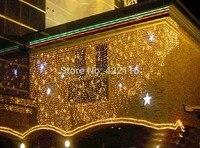 Promo 6x3 0 m 600 SMDs Flash empotrado Barra de hielo LED CADENA DE carámbano impermeable cortina