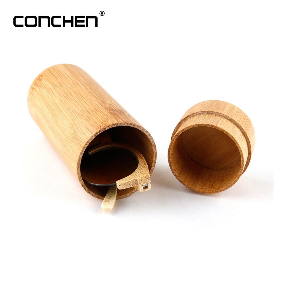CONCHEN Donne Degli Uomini 1 pz Moda Originale Rotonda di Legno di Bambù occhiali da Sole box