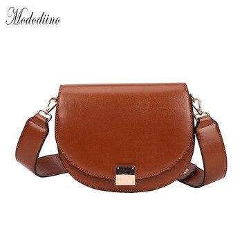 Mododiino, винтажные сумки через плечо для женщин, 2019, женская маленькая сумка-седло, кожаная сумка на плечо, роскошная женская дизайнерская сумк...