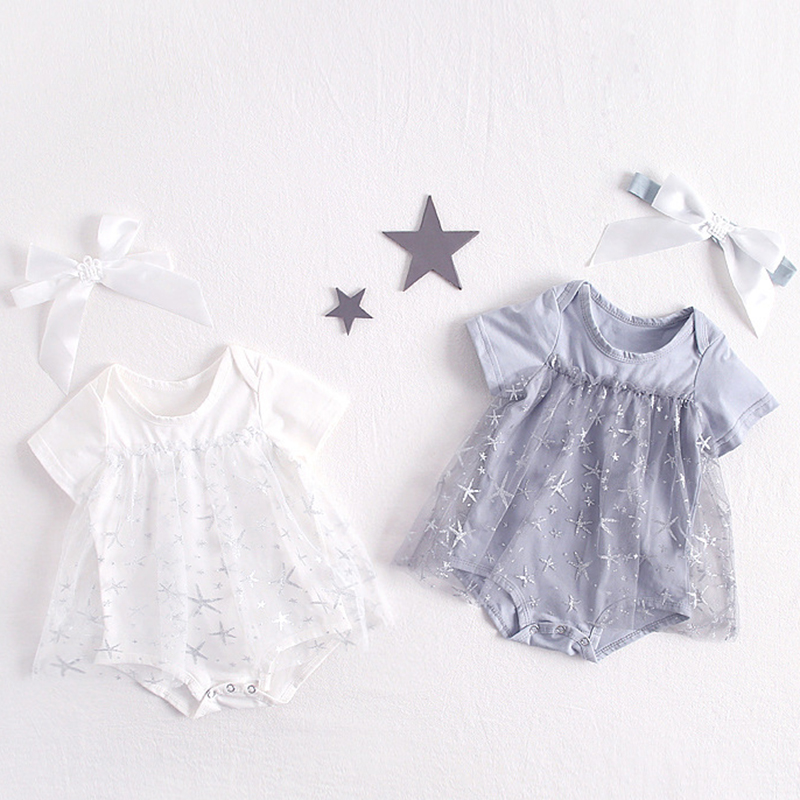 New Baby One-pieces Suits Bodysuit +Hat 2-Piece Lovely Baby Girs Summer Romper Infant Girl Solid Rompers Princess Baby Clothes