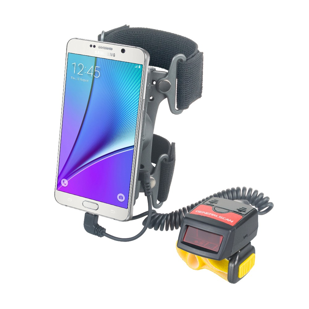 WT1000 wearable laser bluetooth finger 1D ring barcode scanner with mobile armband power supply for phone 02 gereralscan gs ab1000 wearable armband with power adapter smart wearable armband for sale
