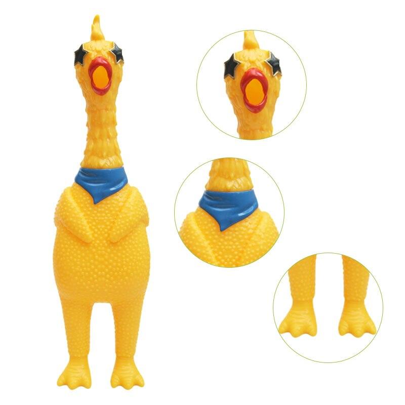 Image 2 - 33 см питомцы игрушечные собаки Кричащие курицы сжимают звук игрушка для собак супер прочный и смешной скрипучий желтый резиновый курица собака жевательная игрушка-in Игрушки-эспандеры from Игрушки и хобби on AliExpress