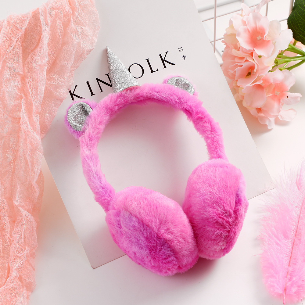 High Quality Cute Ear Muffs Kids Lovely Thicken Plush Unicorn Ear Warmer Earmuffs Oreille New Ear Cover Oorwarmers Dames Women's Earmuffs