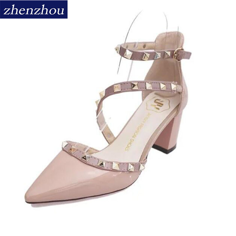 2018Rivet pointed heel shoe with a pair of shoes nude with a pair of shoes with a pair of shoes ...