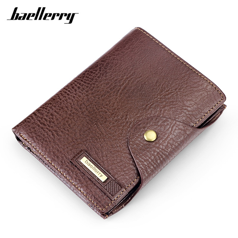 Baellerry Large Capacity Men Hasp Wallet Brand Designer Card Holder Passcard Pocket Brown Wallets Male Leather Coin Purse Man кольца silver wings 01qrglg02443a 19