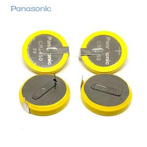 4 шт./лот, батарейки Panasonic CR2450 550 мАч, 3 в, 180 градусов, сварочные булавки для припоя, Bluetooth, часы CR 2450, аккумулятор для монет