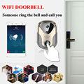 2016 HD Видео Домофон камеры Wi-Fi Ip-камеры, Беспроводные Сигнализации 163Eye HD Визуальный Интерком дверной звонок Беспроводной Дверной Звонок дверь камеры видеонаблюдения