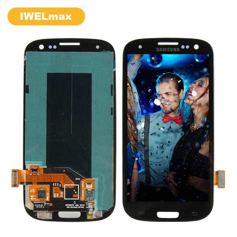 ORIGINAL Super AMOLED for SAMSUNG Galaxy S III S3 LCD Screen Display Digitizer i9300 i9300i i9301 i9301i i9305 Replacement Parts