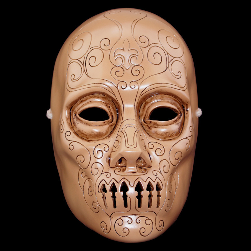 New Harry Potter Series Death Eater Mask Halloween Horror Malfoy Lucius Resin Masks Private Party Cosplay Masquerade Costume